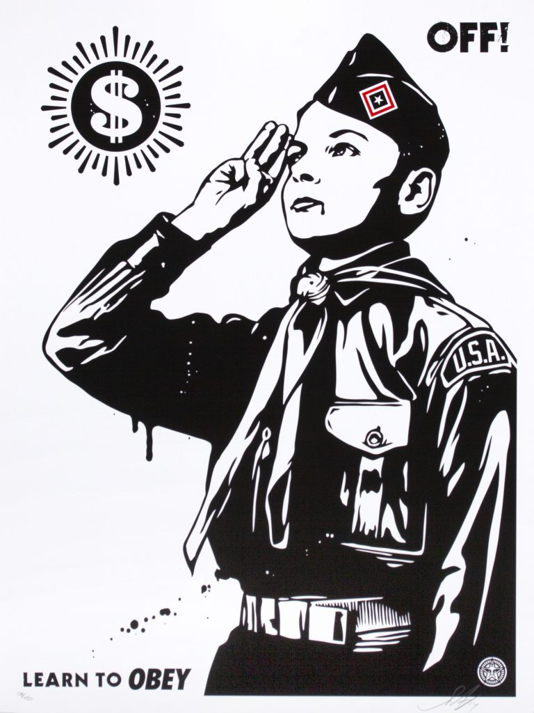 shepard fairey learn to obey - off!