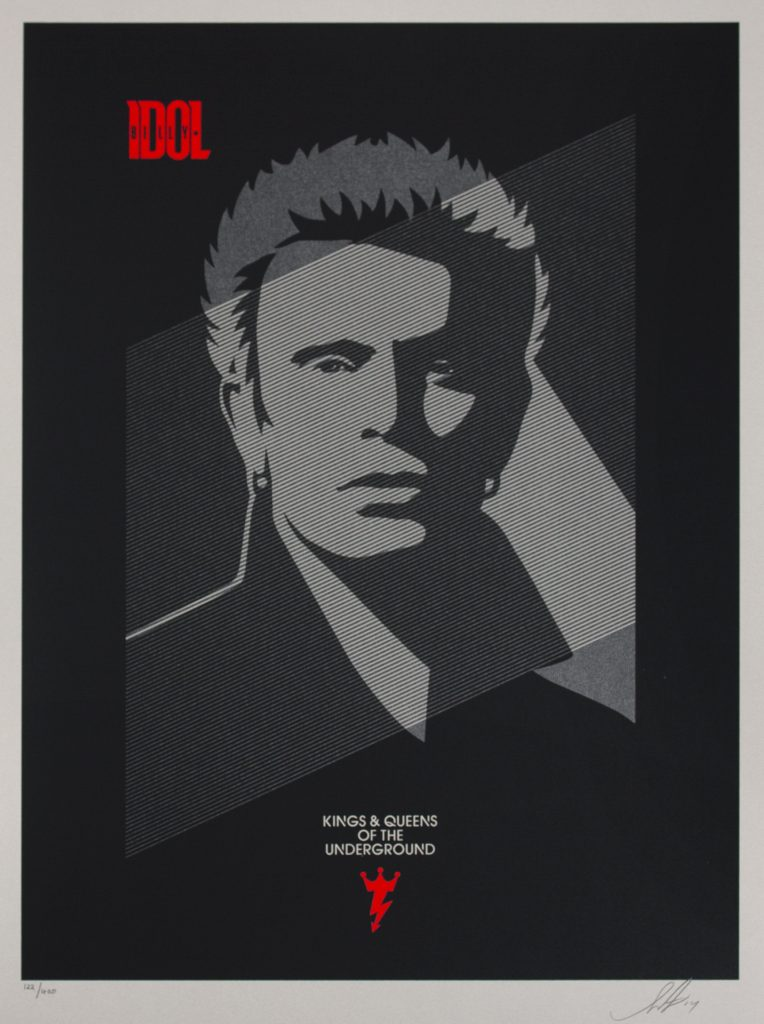 shephard_fairey_billy idol - kings & queens of the underground