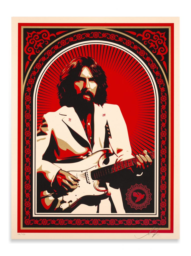 shepard fairey friendship and support george harrison -full