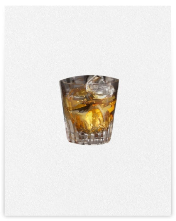 Elise Dawson Whisky Glass on Paper