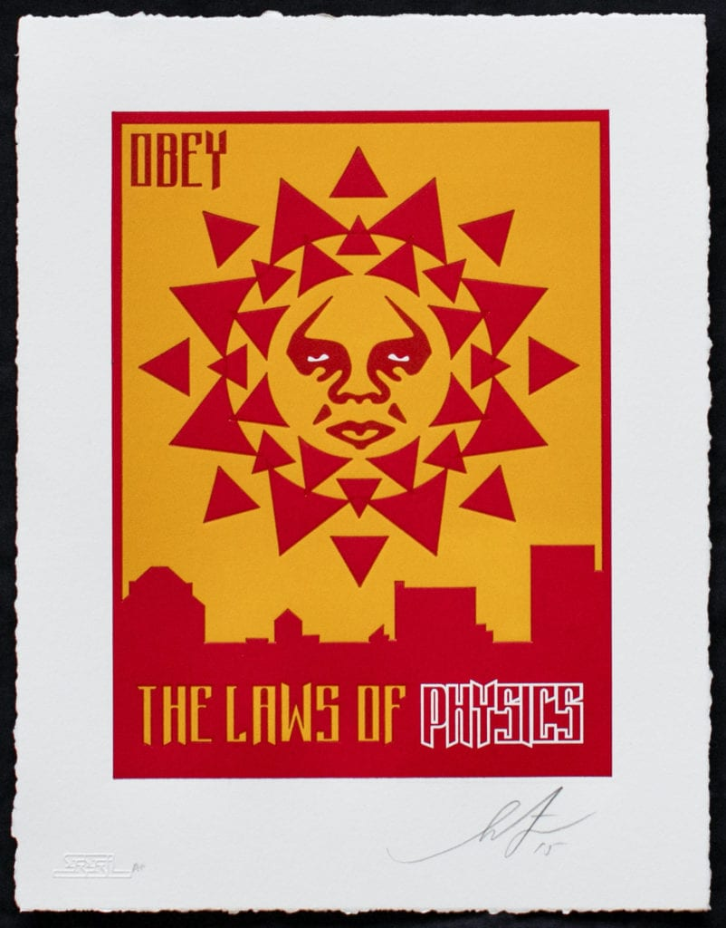 Obey - The Laws of Physics - Shepard Fairey - Full Image